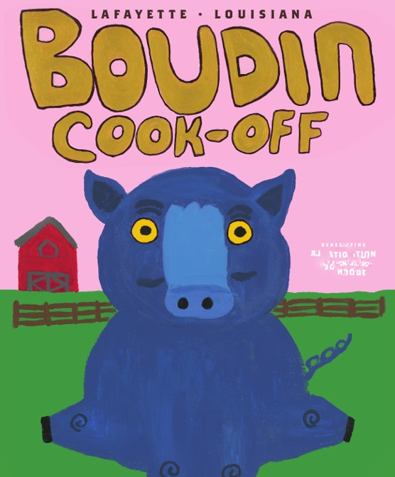 Boudin Cook-Off Poster, 2018, October 20, Blue Pig